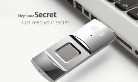 Elephone ELE Secret, pendrive con lector de huellas