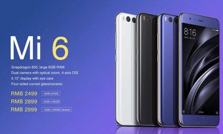 Xiaomi Mi6, con el Snapdragon 835 presentado oficialmente