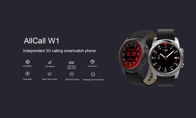 AllCall W1, con pantalla AMOLED  y 2GB de RAM