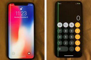 IPhone X muestran un defecto