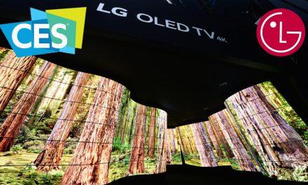 El tunel LG OLED sorprende a los asistente al CES 2018