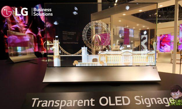 ISE 2018 LA CARTELERÍA DEL FUTURO YA ESTÁ AQUÍ:  LG presenta pantallas oled transparentes y flexibles
