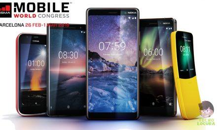 Nokia presenta cinco nuevos teléfonos en el MWC 2018