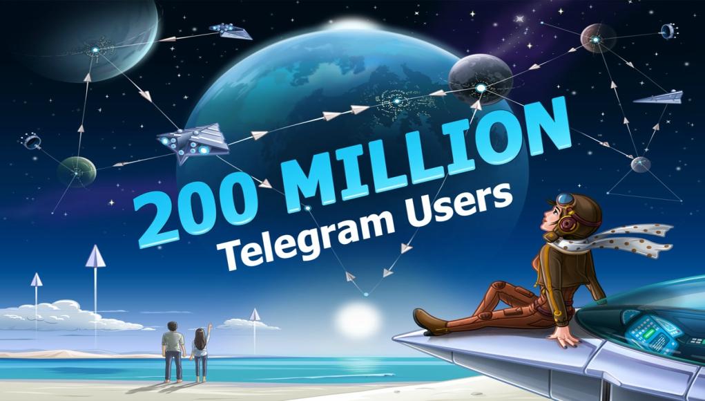 Telegram: 200,000,000 usuarios activos mensuales