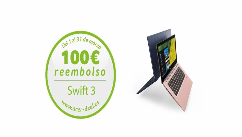 ACER reembolsa 100 euros por comprar el Swift 3