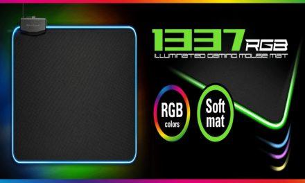 Sharkoon 1337, alfombrilla FLEXIBLE con iluminación RGB