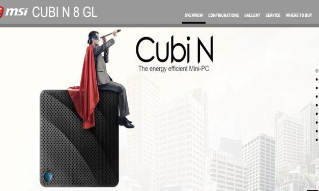 MSI Cubi N 8GL son los nuevos mini PC de MSI