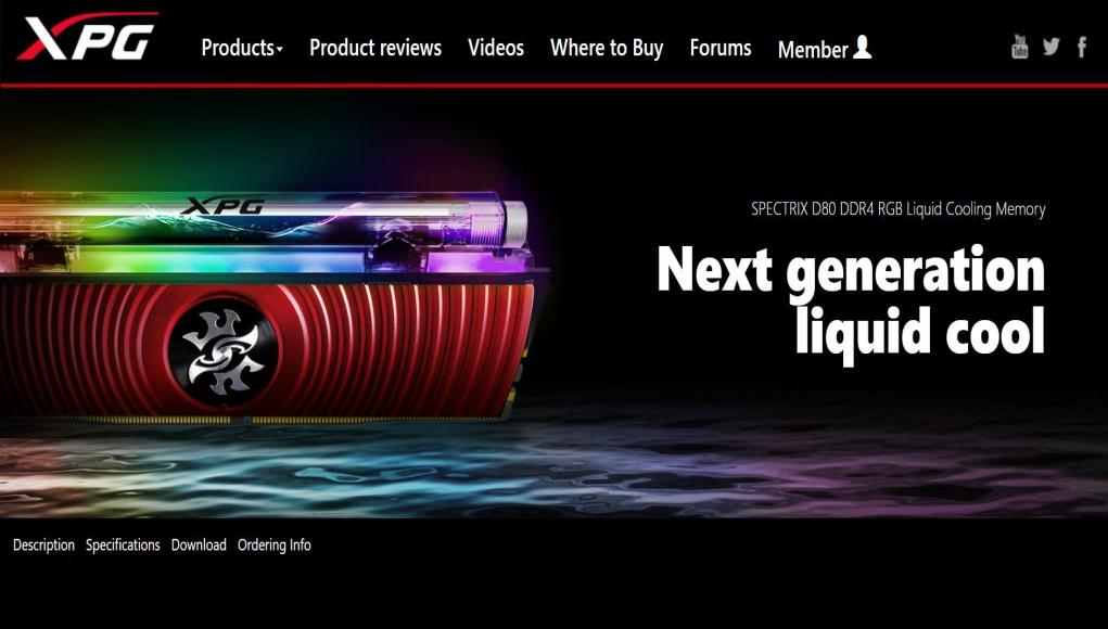 XPG Spectrix D80: Las memorias RAM del futuro
