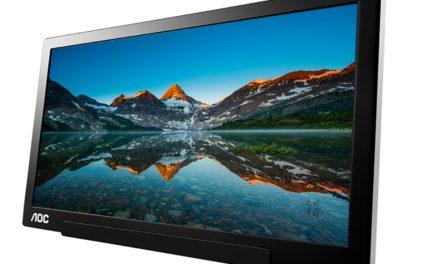AOC anuncia un monitor portátil y con USB-C