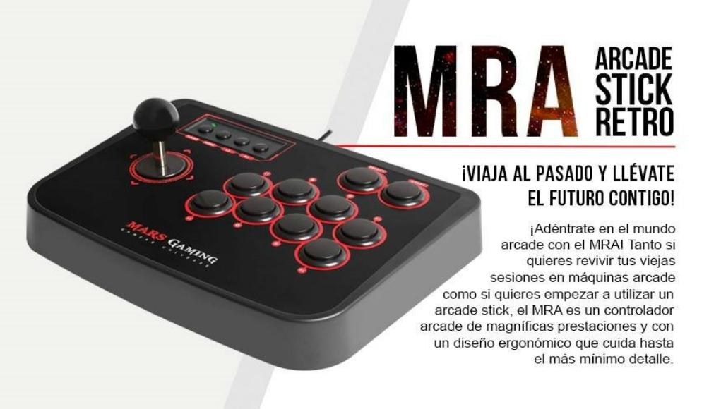MRA Mars Gaming: Lo retro vuelve con este arcade stick