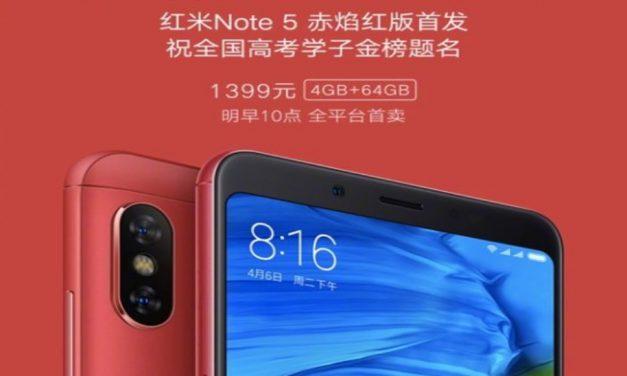 Xiaomi Redmi Note 5 Flame Red Edition