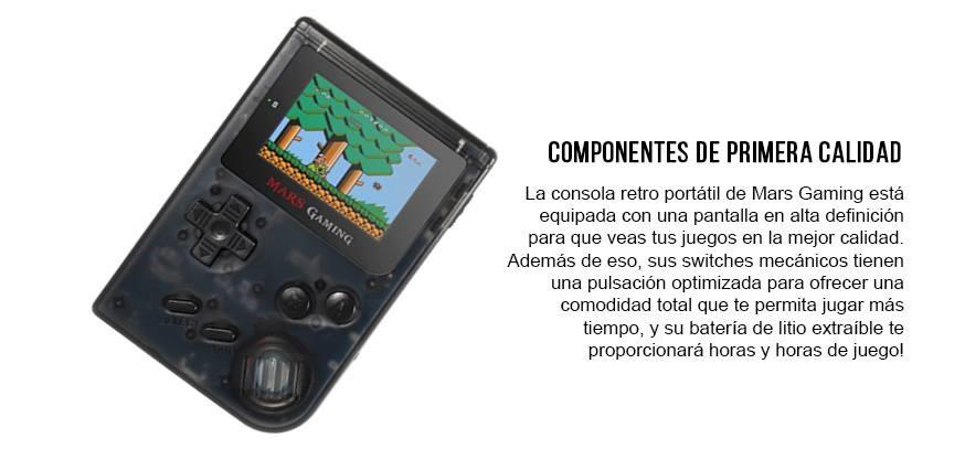 GameBoy retro de Mars Gaming