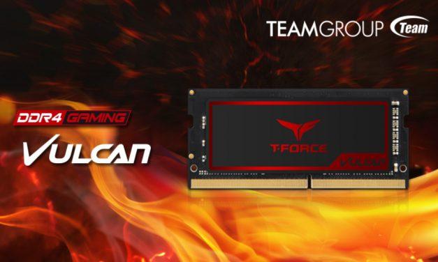 TEAMGROUP lanza T-FORCE VULCAN para laptop gaming