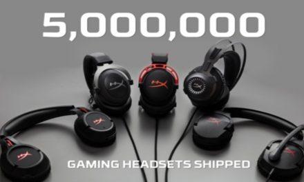 HyperX distribuye 5 millones de auriculares para videojuegos