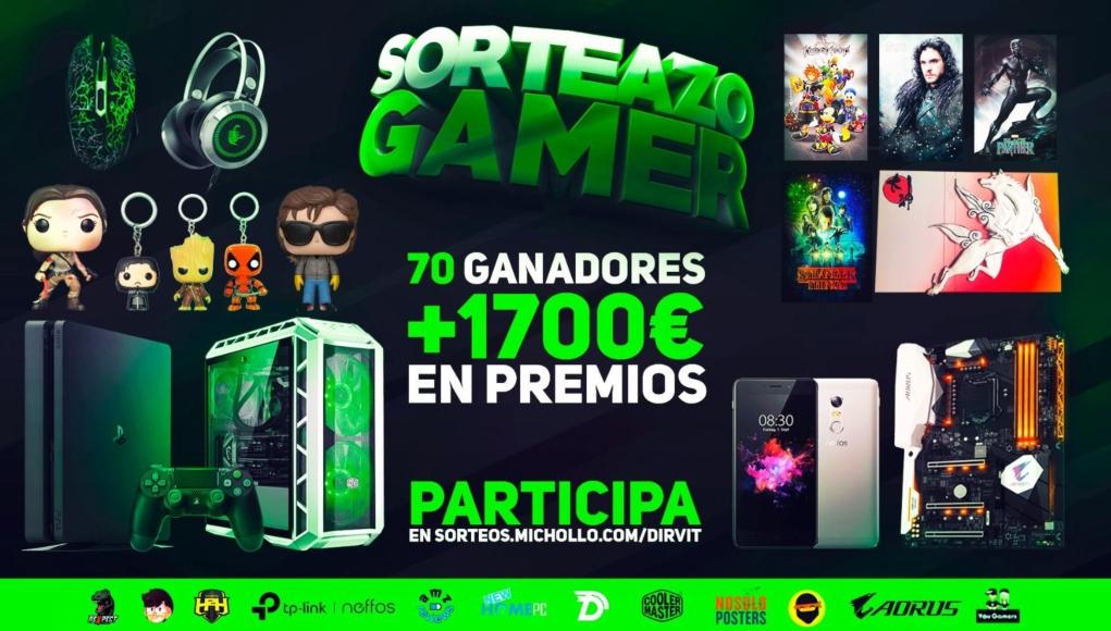 SORTEAZO GAMER con más de 1700€ en Premios