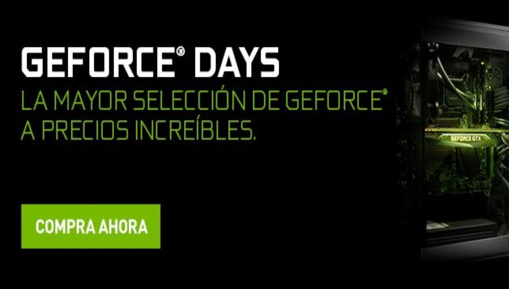 NVIDIA anuncia nuevas ofertas con los NVIDIA GeForce Days