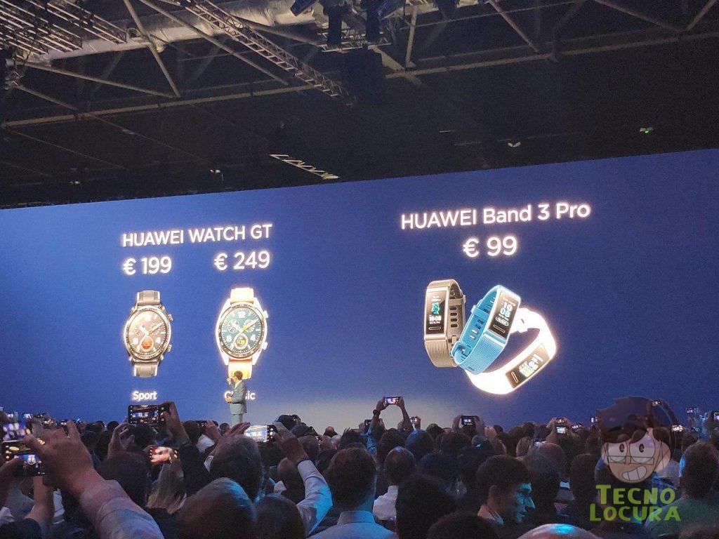 Huawei Watch GT y Huawei Band 3 Pro - PRECIO