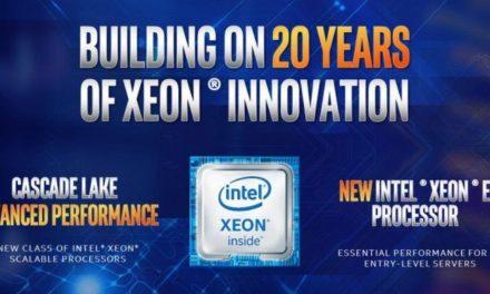 Intel muestra el alcance de Cascade Lake y los Xeon E-2100