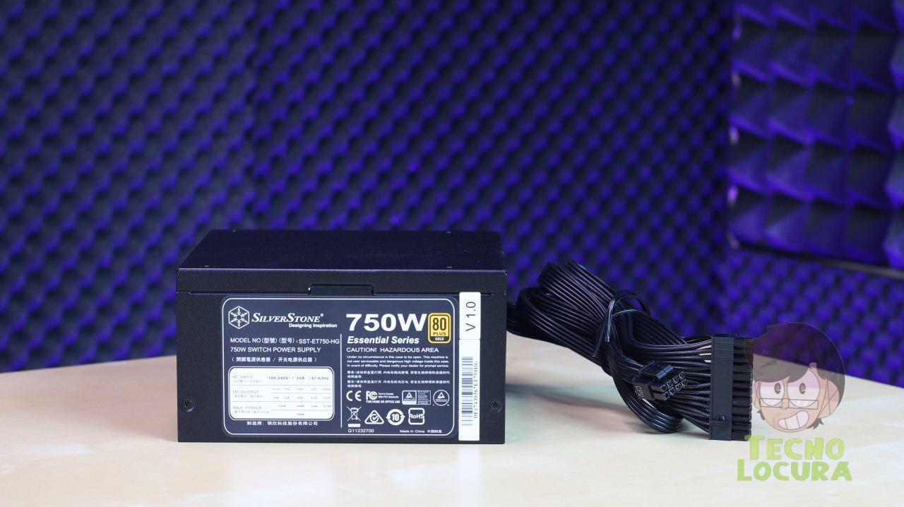SilverStone ET750-HG - Diseñada con un nivel de eficiencia 80 PLUS Gold para reducir el calor residual y ahorrar electricidad