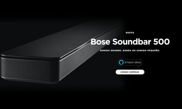 Bose Soundbar 500: impresionante y diseño minimalista