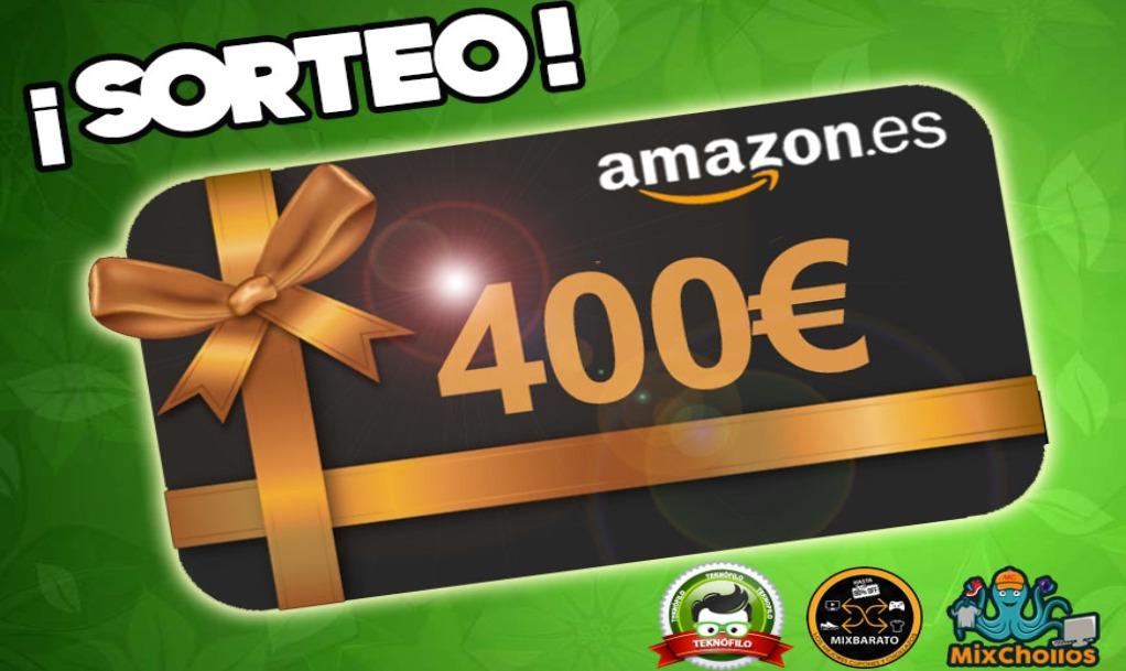 Sorteo de una tarjeta regalo de 400€ de Amazon