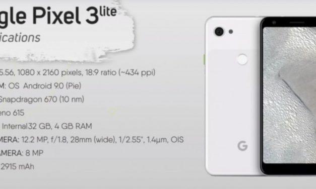 Google Pixel 3 Lite se filtra por completo en un vídeo