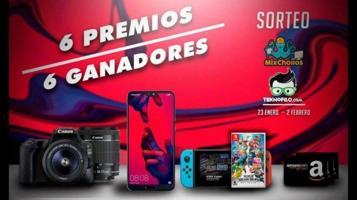 Sorteo Huawei P20 Pro, Nintendo Switch, Canon EOS 4000D y tarjetas Amazon