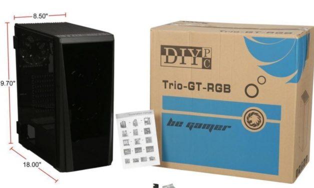 DIYPC Trio GT RGB con ventana abatible