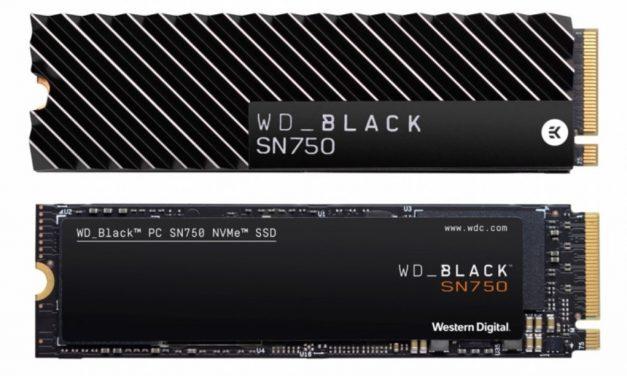 """WD Black SN750 con disipador y """"modo de juego"""""""