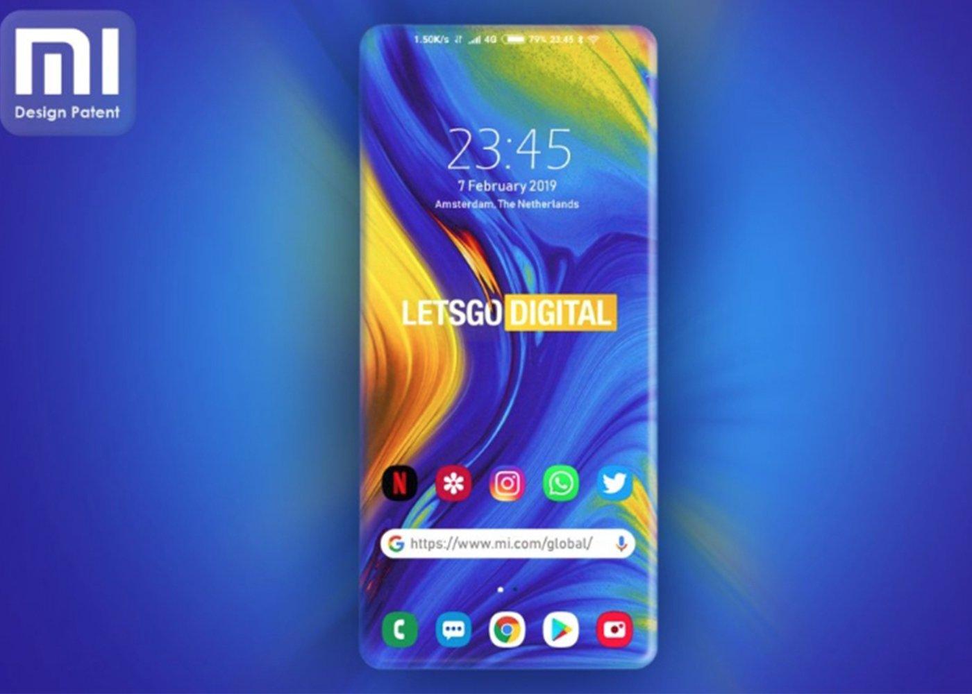 Xiaomi patenta la pantalla Edge completa
