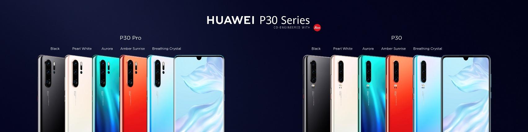 HUAWEI P30 y HUAWEI P30 Pro series