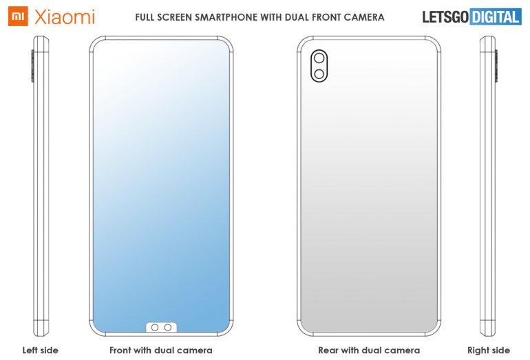 Xiaomi patenta notch y cámara dual ABAJO