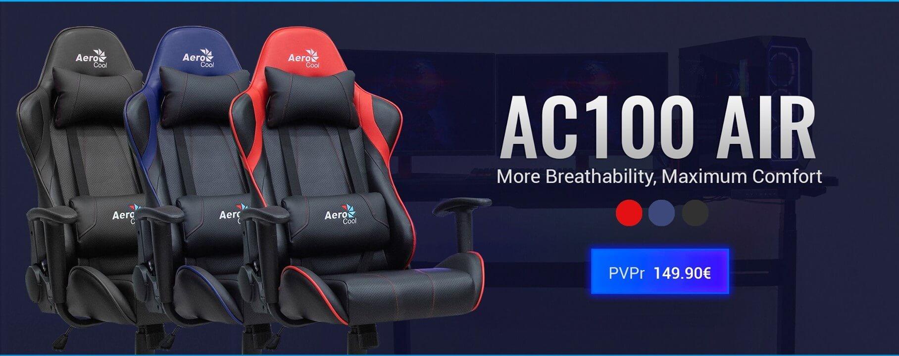 Aerocool De Silla Gaming Tecnolocura DefinitivaAc100 La Air 76YbvyfIg