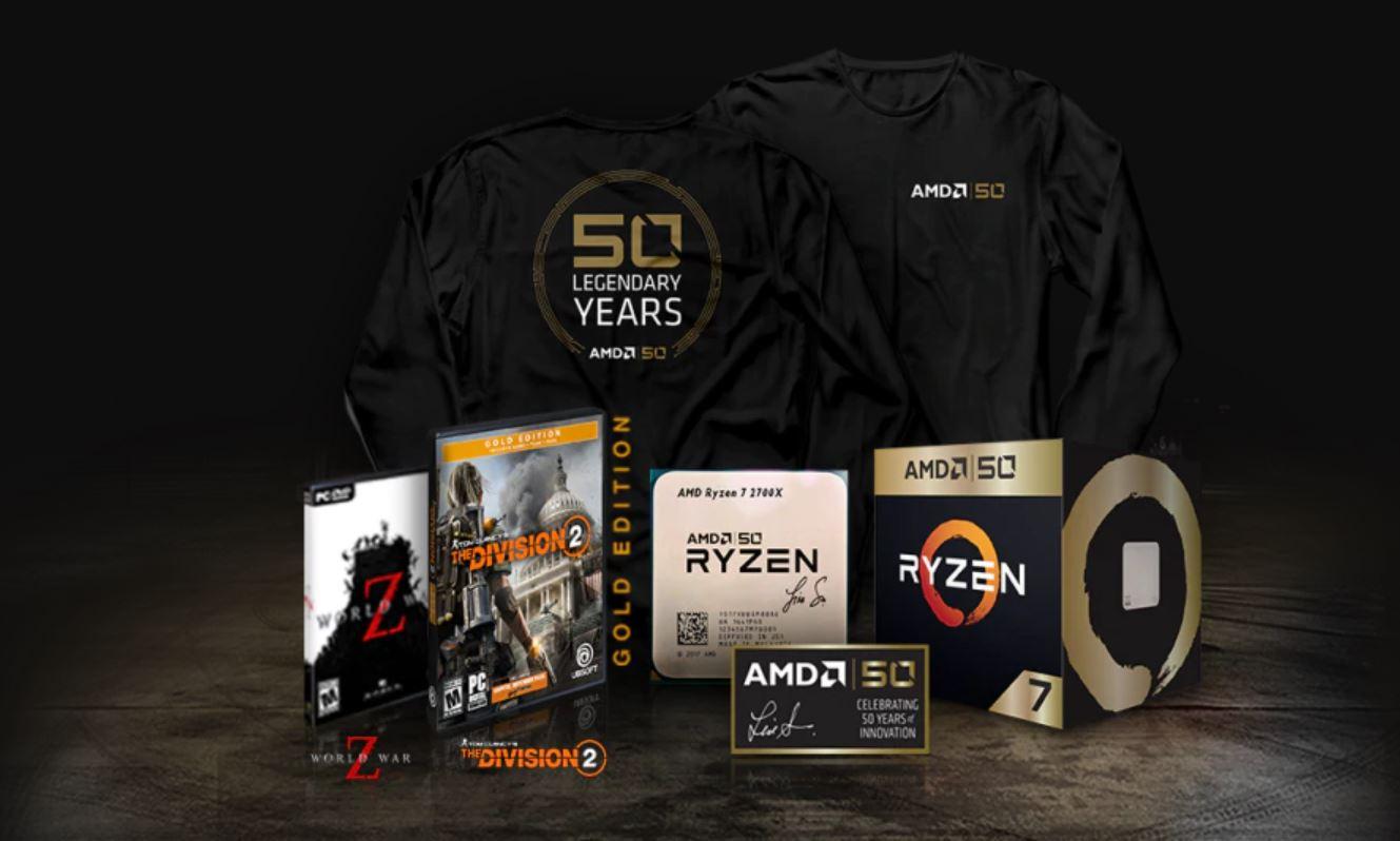 Juegos GRATIS y una camiseta con AMD 50 Aniversario