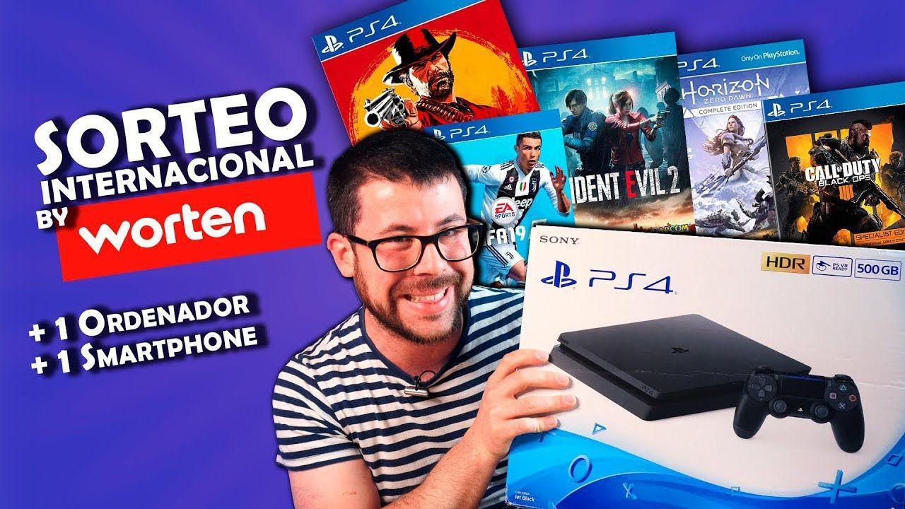 MegaSorteo INTERNACIONAL: PS4+Juegos+Portátil+Móvil