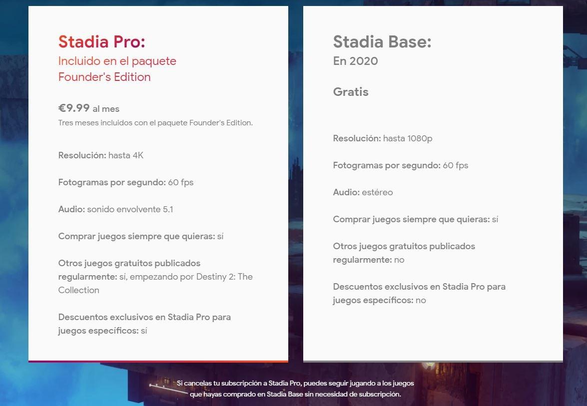 Stadia estará disponible en noviembre
