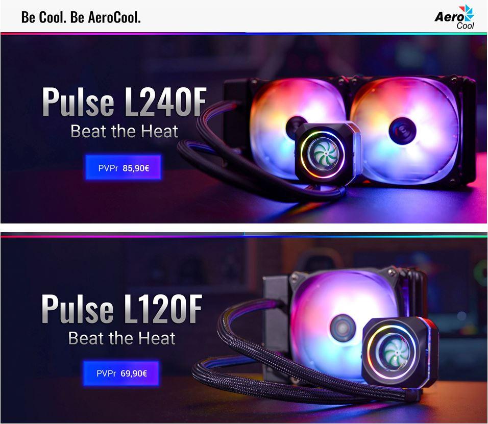 AeroCool Pulse L120F y L240F RL AIO a precio contenido