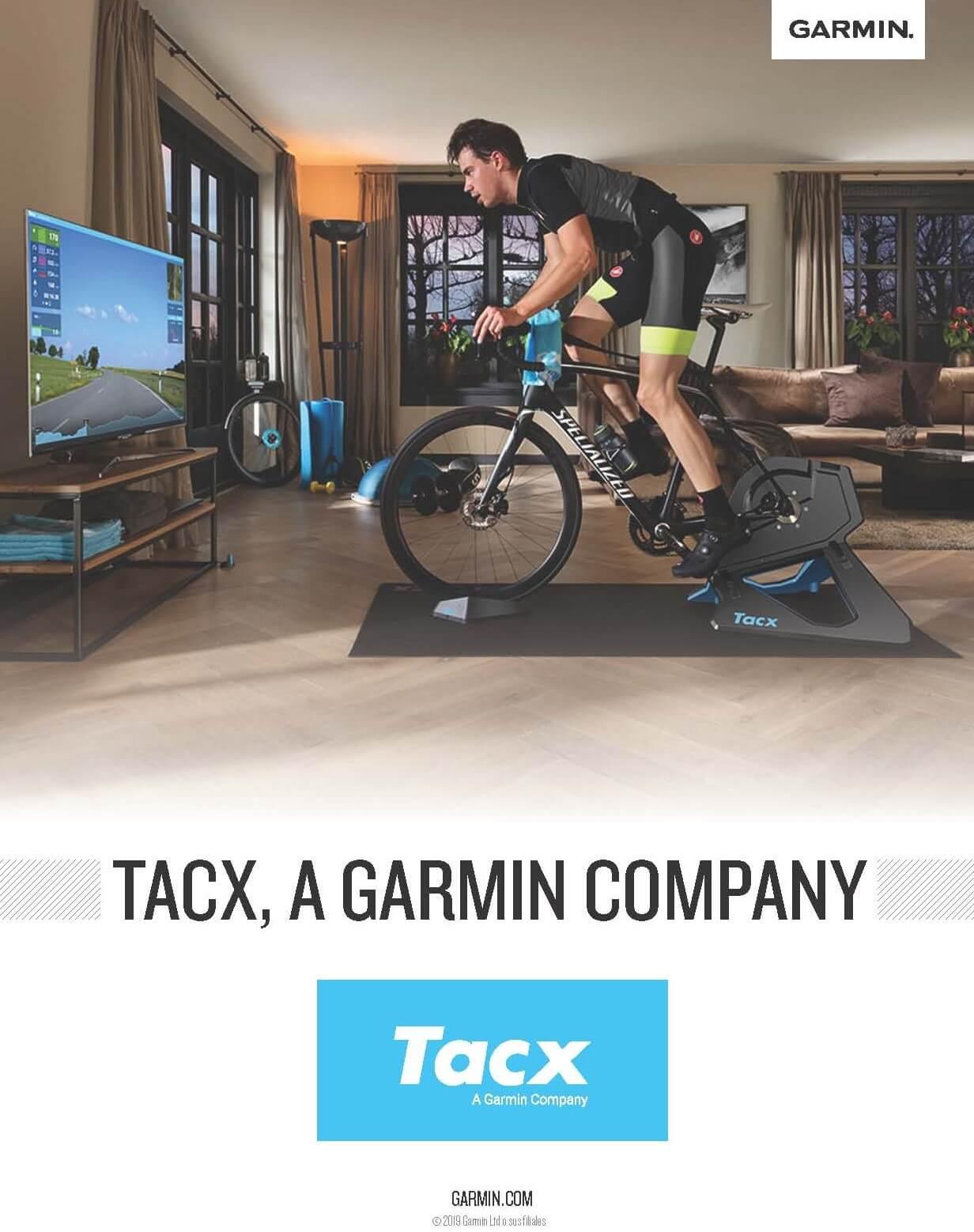 Garmin asume la distribución, servicio y soporte de los productos Tacx