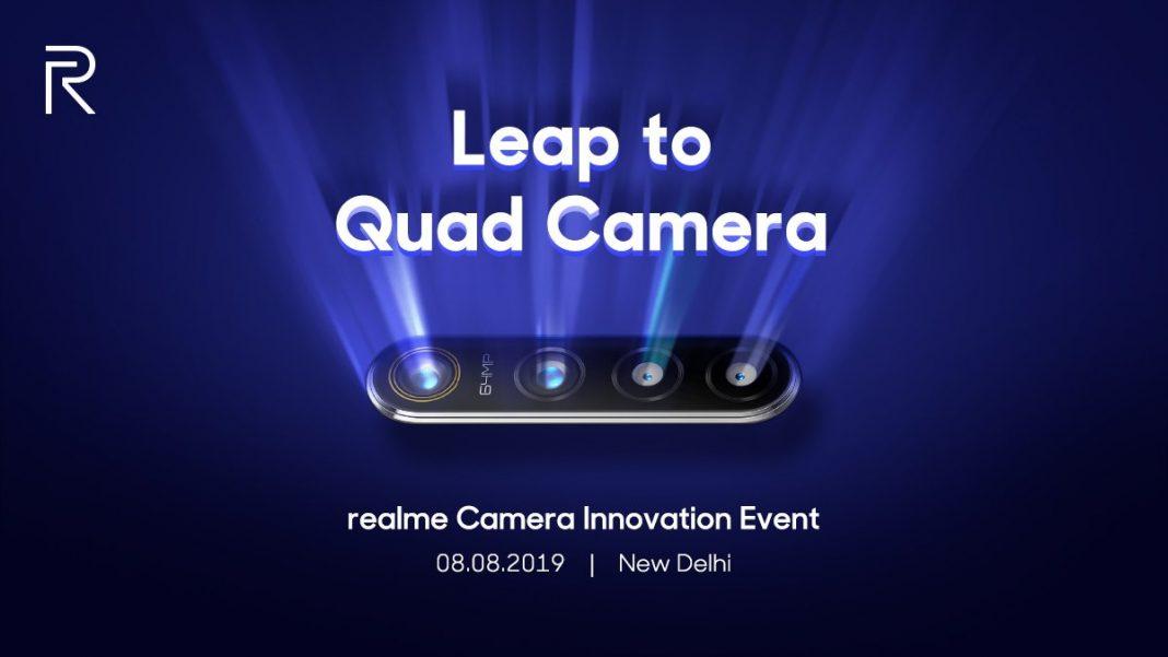 Realme con cámara de 64MPX llegará el 8 de agosto
