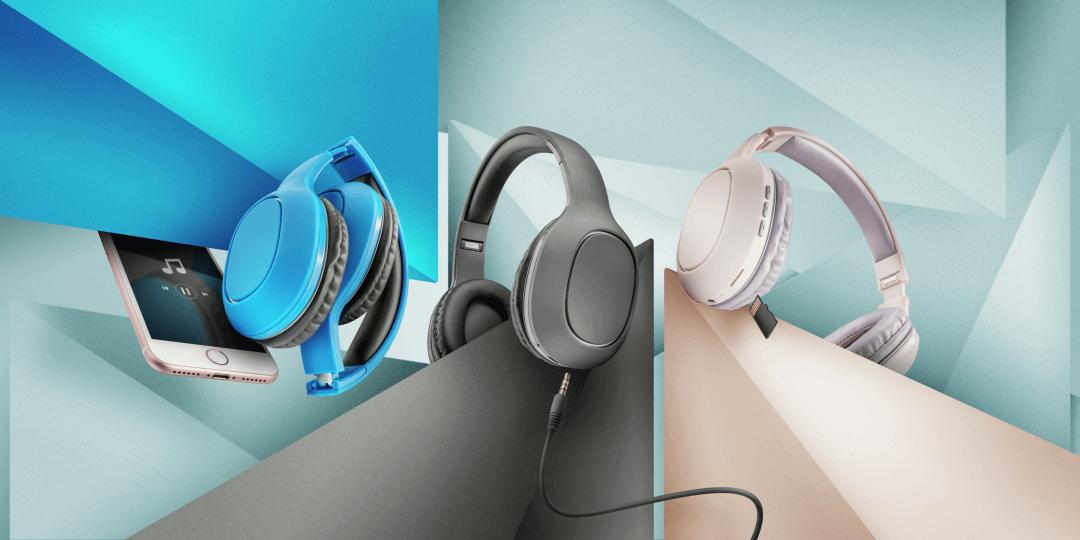 Trust Dona, cascos plegables bluetooth con MicroSD