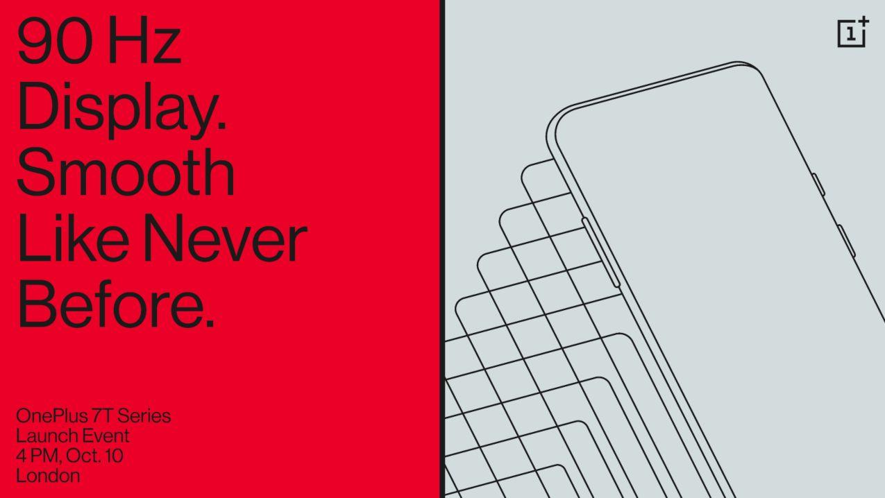 OnePlus 7T será presentado el 10 de octubre