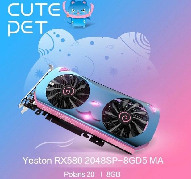 Yeston RX 580 con un curioso y llamativo diseño