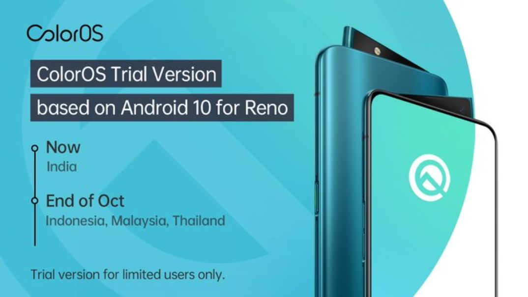 ColorOS 6 Beta con Android 10 disponible para Oppo Reno