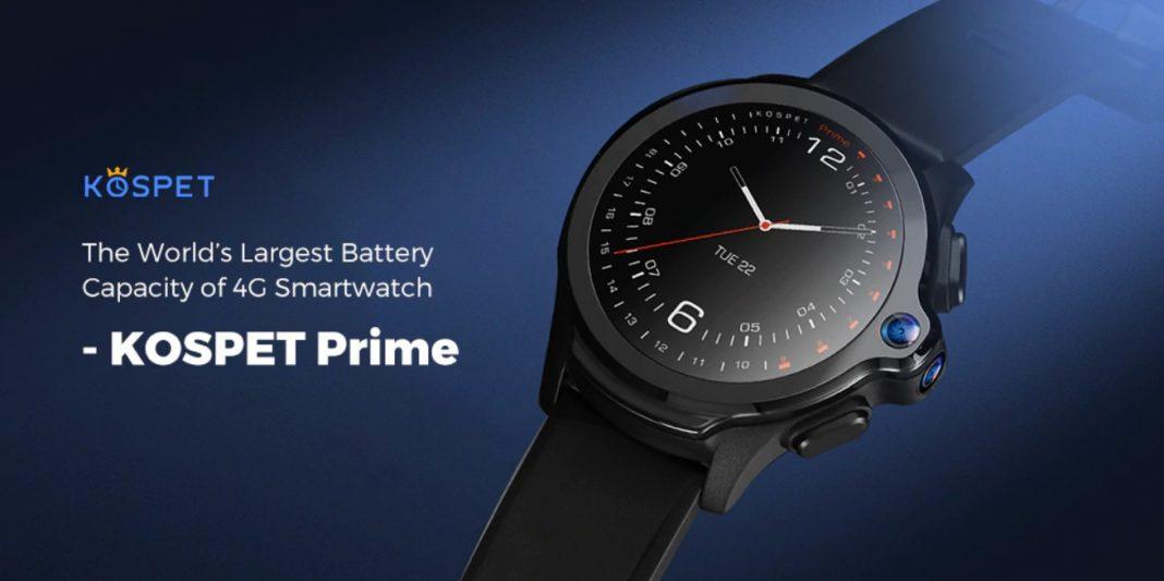 KOSPET Prime, smartwatch con 1260 mAh de batería y Android