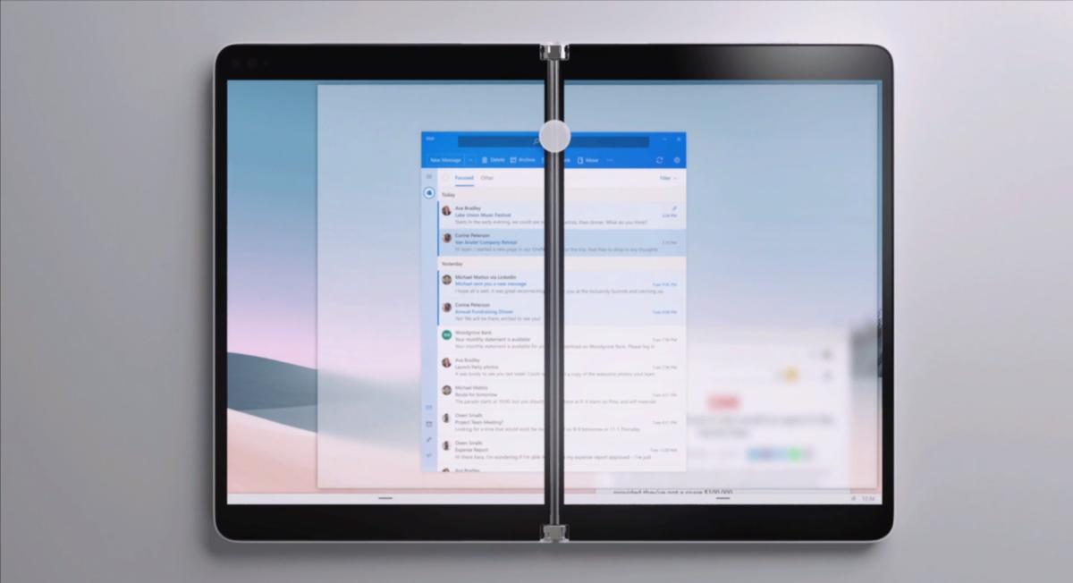 Microsoft Surface Neo con dos pantallas táctiles 360º