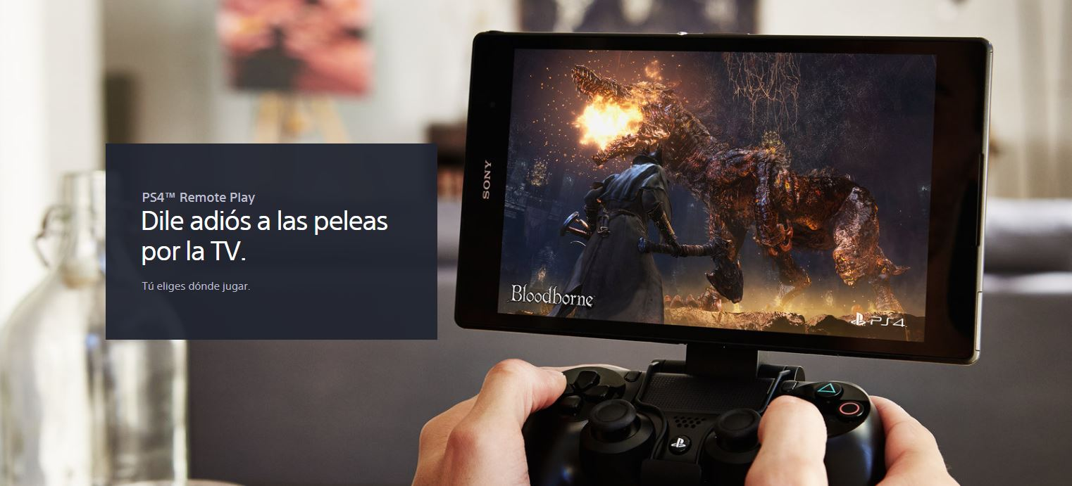 sistema PS4 Remote Play