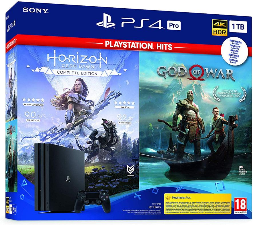 Sony PlayStation 4 Pro 1TB + GOW + Horizon. OFERTA