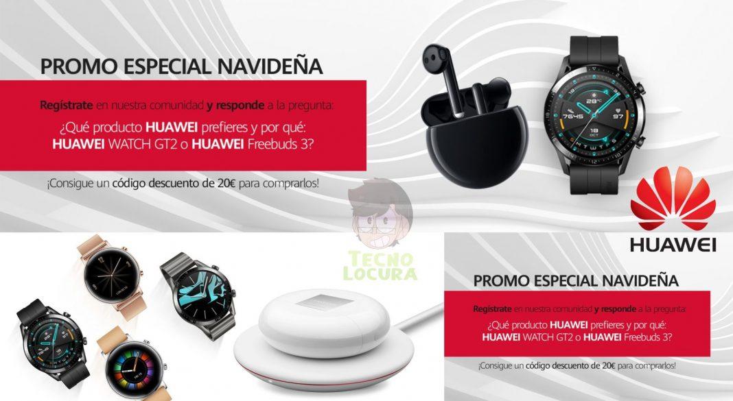 20€ de descuento para comprar Huawei Watch GT2 o Freebuds 3