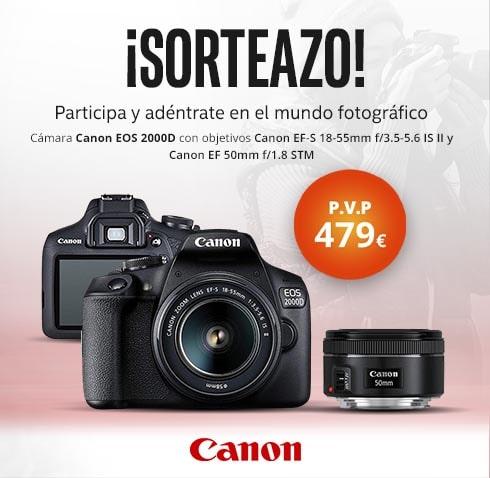 Canon EOS 2000D GRATIS. ¡Sorteazo!