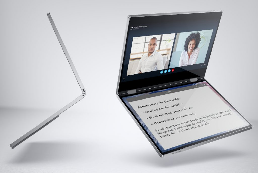 Dell Concept Ori y Duet, laptops de pantalla flexible para 2020